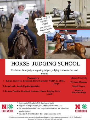 2020 Horse Judging School