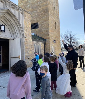 Learning about the bell tower