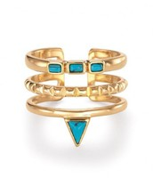 Turquoise Stone Stacked Ring