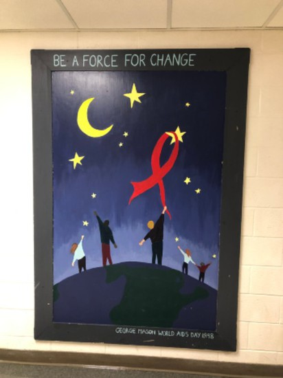 Be A Force For Change GMHS Mural 1998