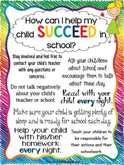 Ways to help children succeed in school