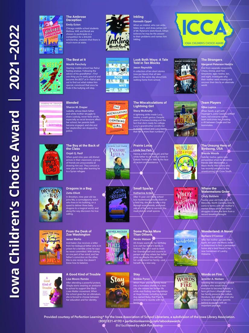 Iowa Children's Choice Award 2021-2022