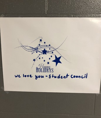 Happy Holidays from student council