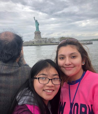 Lady Liberty up close and personal.