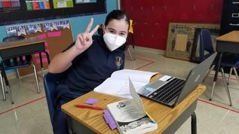 Enjoying a good book- Ms. Kickham's 5th Grade class