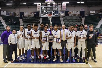 Troy High Boys Basketball win Section 2, Regional East Championships