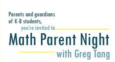 LSR7 K-8 Virtual Parent Math Night with Greg Tang