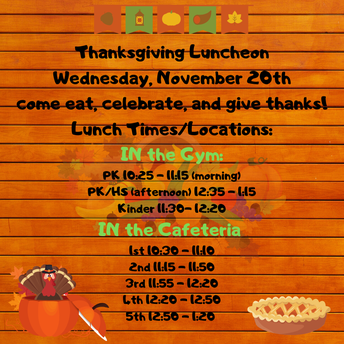 Thanks for Coming to our Thanksgiving Lunch!