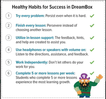 Healthy Habits for Success in Dreambox