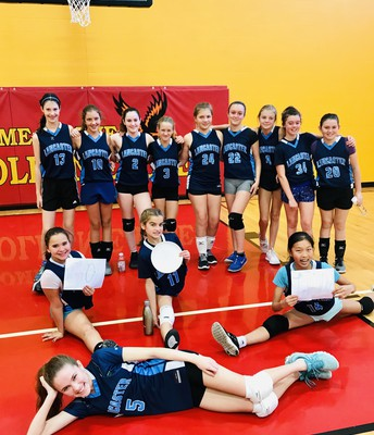 Our Girl's Volleyball team shared smiles and tons of Lancaster spirit at their weekend tournament!
