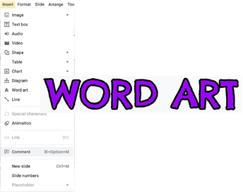 6. Word Art in Slides and Drawings