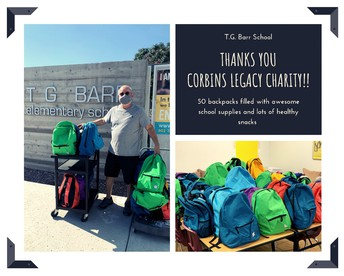 Thank you Corbins Legacy Charity