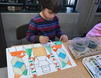 More Abstract art in 1st Grade