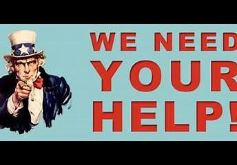Volunteer help needed!