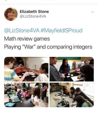 Math Review in Mrs. Stone's Class