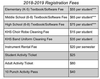 2018-19 Fees