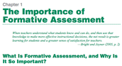 The Importance of Formative Assessment