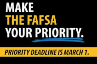 Seniors - Get that FAFSA submitted!  Don't miss out on money for college!
