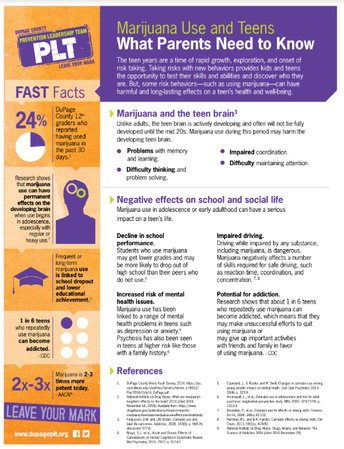 What Parents Need to Know: Marijuana Use by Teens