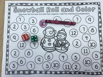 Snowball Roll and Color