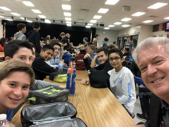 Dr. Harris participates in Shadow a Student Challenge