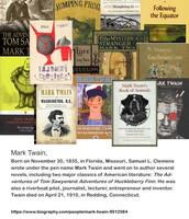 A FEW OF MARK TWAIN'S BOOKS