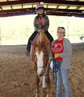 Therapeutic Riding is Fun!!  Brittany & Jona