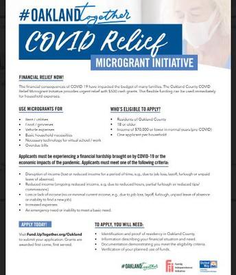 COVID-19 Relief Individual Microgrant