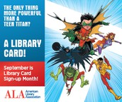 September is Library Sign-up Card Month