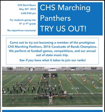 CHS Marching Panthers Try Outs