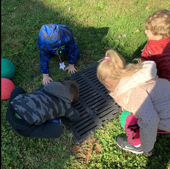 Checking out the storm drain!