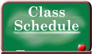 7th and 8th Grade Class Schedules