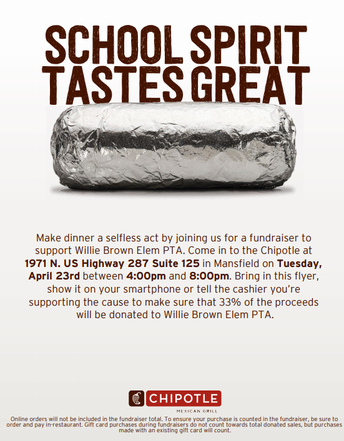 Chipotle Spirit Night Tuesday