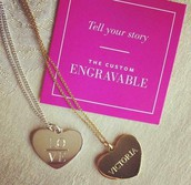 Engravable Heart Charm Was $49 Now $19.60