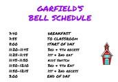 Garfield's Bell Schedule