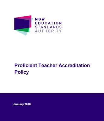 NESA: Proficent Teacher Accreditation Policy