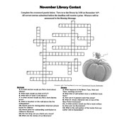 Crossword Puzzle Library Contest
