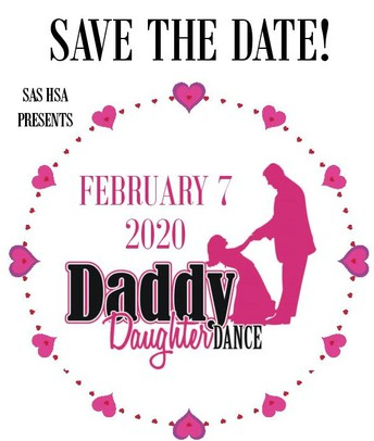 DADDY DAUGHTER DANCE TICKETS NOW ON SALE:  $30 per couple through 1/31