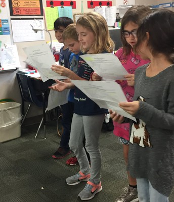 Ms. Falknor's class loves Reader's Theater