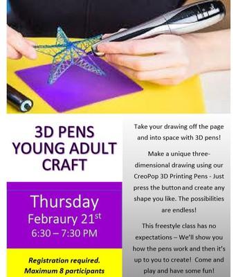 3D Pens YA Craft