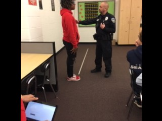 Officer Graham Helps Students in Health Class