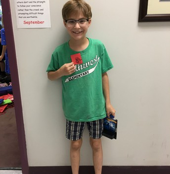 Andrew earned his first Red Raider prize!