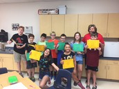 Some of our 6th grade Honor Roll and Principal List Pirates!
