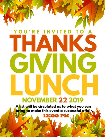 Thanksgiving Lunch (Special Invitation)