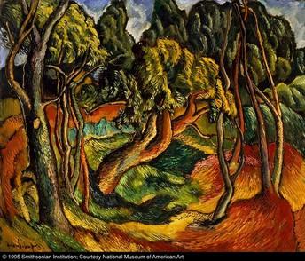 Georgia Landscape, circa 1934-35, Oil Painting, Hale Aspacio Woodruff