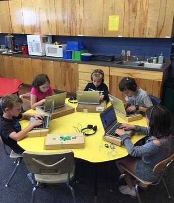 3rd Graders at Keyboarding