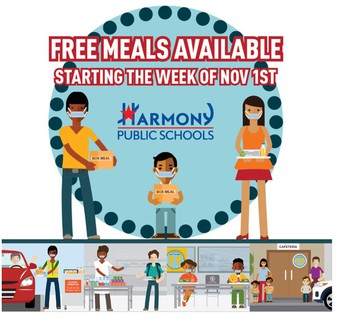 Free meals available starting week of November 1st
