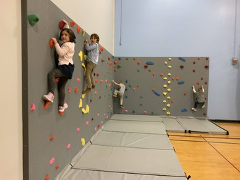 Thanks to our PTSO for the awesome new rock wall!