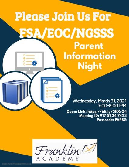FSA Parent Information Night