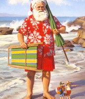 December 7:  Santa on Vacation Day